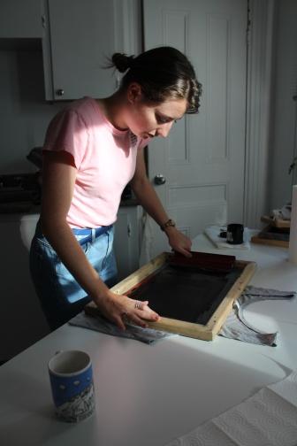 Tessa silkscreening